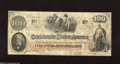 Confederate Notes:1862 Issues, T41 $100 1862. This J.C. Calhoun issue grades Very Fine and carriesan interest stamp from Raleigh, NC....