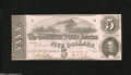 Confederate Notes:1862 Issues, T53 $5 1862. This example is as fresh as the day it was printed,with only a light corner bend at left. Choice Crisp Uncir...