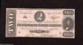 Confederate Notes:1863 Issues, T61 $2 1863. This hard to find issue, which had a printing of689,200 notes, grades Crisp Uncirculated, save for some li...