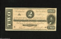 Confederate Notes:1864 Issues, T70 $2 1864. Three wide margins are found on this Deuce that exhibits excellent print quality despite the hardships of the C...