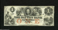 Obsoletes By State:Minnesota, St. Paul, MN- Dayton Bank $1 185_ Two corner folds are found onthis scarce Ace from this unauthorized bank. The portrait i...