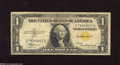 Small Size:World War II Emergency Notes, Fr. 2306 $1 1935A North Africa Silver Certificate. Fine. This is a nice note off the C-C block....