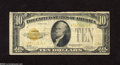 Small Size:Gold Certificates, Fr. 2400 $10 1928 Gold Certificate. Very Good. This note has rough edges and a small stain....