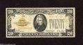 Small Size:Gold Certificates, Fr. 2402 $20 1928 Gold Certificate. Fine. This note just has honest wear with no problems....