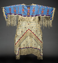 A Sioux Beaded Hide Dress
