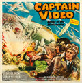 "Movie Posters:Serial, Captain Video, Master of the Stratosphere (Columbia, 1951). Six Sheet (80"" X 81"") Glenn Cravath Artwork.. ..."