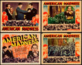 """Movie Posters:Drama, American Madness (Columbia, 1932). Title Lobby Card & LobbyCards (3) (11"""" X 14""""). From the Collection of Frank Buxton,of... (Total: 4 Items)"""