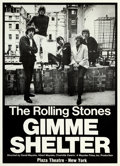 "Movie Posters:Rock and Roll, Gimme Shelter (20th Century Fox, 1970). New York Premiere Poster(25.25"" X 35.5""). From the collection of David Frangioni,..."