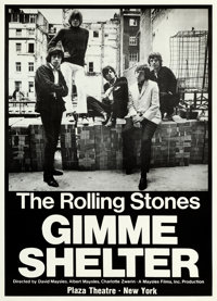 "Gimme Shelter (20th Century Fox, 1970). New York Premiere Poster (25.25"" X 35.5""). From the collection of Davi..."