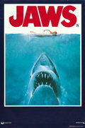 """Movie Posters:Horror, Jaws (Universal, 1975). Full-Bleed British Double Crown (20"""" X 30"""") Roger Kastel Artwork. From the collection of David Fra..."""