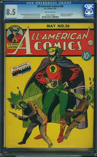 All-American Comics #26 (DC, 1941) CGC VF+ 8.5 OFF-WHITE pages