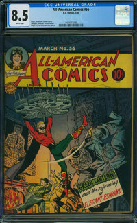 All-American Comics #56 (DC, 1944) CGC VF+ 8.5 WHITE pages
