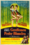 """Movie Posters:Musical, Gentlemen Prefer Blondes (20th Century Fox, 1953). Poster (40"""" X 60"""") Style Y.. ..."""