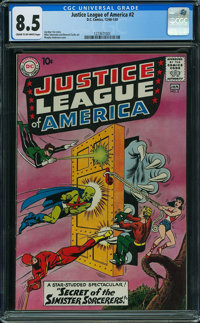 Justice League of America #2 (DC, 1961) CGC VF+ 8.5 CREAM TO OFF-WHITE pages