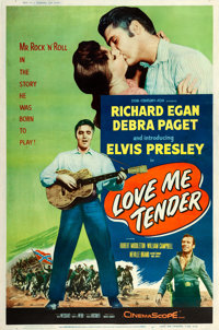 "Love Me Tender (20th Century Fox, 1956). Poster (40"" X 60"") Style Y"