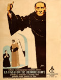 """Movie Posters:Drama, The Passion of Joan of Arc (ACE, 1928). French Grande (47.25"""" X 62.5"""") R. Marcos Artwork.. ..."""