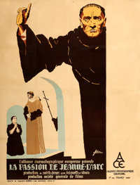 "The Passion of Joan of Arc (ACE, 1928). French Grande (47.25"" X 62.5"") R. Marcos Artwork"