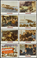 """Movie Posters:War, Dunkirk (MGM, 1958). Lobby Card Set of 8 (11"""" X 14""""). War....(Total: 8 Items)"""