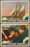 "Movie Posters:Adventure, Captains Courageous (MGM, 1937). Lobby Cards (2) (11"" X 14"").Adventure.... (Total: 2 Items)"