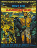 """Movie Posters:Science Fiction, Planet of the Apes (20th Century Fox, 1968). French Petite (23.5"""" X31.5""""). Science Fiction...."""