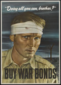 "Movie Posters:War, World War II War Bonds Poster (U.S. Government, 1943). Poster (28""X 40""). War...."