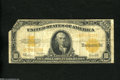 Large Size:Gold Certificates, Fr. 1173 $10 1922 Gold Certificate Good-Very Good Damage. This large size $10 is missing a corner....
