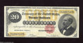 Large Size:Gold Certificates, Fr. 1178 $20 1882 Gold Certificate Fine. This pleasing example exhibits several pinholes....
