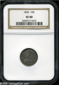 """Bust Dimes: , 1836 10C XF40 PCGS. The current Coin Dealer Newsletter (Greysheet)wholesale """"bid"""" price is $200.00...."""