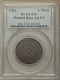 1783 Nova Constellatio Copper, Pointed Rays, Large US, Fine 15 PCGS. PCGS Population: (2/103). NGC Census: (1/37). ...(P...