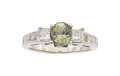 Estate Jewelry:Rings, Alexandrite, Diamond, White Gold Ring . ...