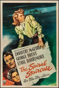 "Movie Posters:Thriller, The Spiral Staircase (RKO, 1945). Folded, Very Fine-. One Sheet (27"" X 41""). Thriller.. ..."