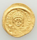 Ancients:Byzantine, Ancients: Justinian I the Great (AD 527-565). AV solidus (20mm,4.44 gm, 6h). VF, scratches. ...
