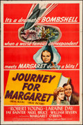 "Movie Posters:War, Journey for Margaret (MGM, 1942). One Sheet (27"" X 41"") Style D. War.. ..."