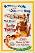 """Movie Posters:Animation, Lady and the Tramp/Almost Angels Combo (Buena Vista, R-1962). One Sheet (27"""" X 41""""). Animation.. ..."""