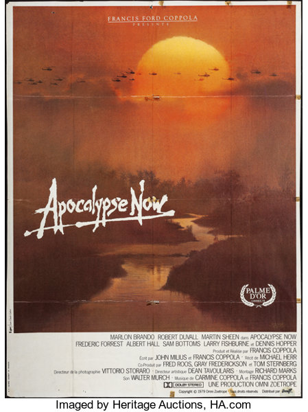 apocalypse now amlf 1979 french grande 45 5 x 61 5 artwork lot 53015 heritage auctions https movieposters ha com itm war apocalypse now amlf 1979 french grande 455 x 615 artwork by bob peak war a 161842 53015 s tnt 1 ic4 galleryview bidnow 071515