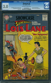 Showcase 9 Superman's Girlfriend Lois Lane (DC, 1957) CGC GD/VG 3.0 OFF-WHITE TO WHITE pages