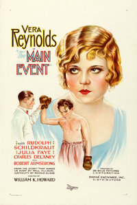"""The Main Event (Pathé, 1927). One Sheet (27"""" X 41""""). From the Collection of Frank Buxton, of which the..."""