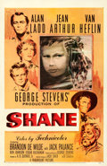 "Movie Posters:Western, Shane (Paramount, 1953). One Sheet (27"" X 41"") Ercole BriniArtwork. From the Collection of Frank Buxton, of which..."