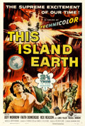 "Movie Posters:Science Fiction, This Island Earth (Universal International, 1955). Autographed OneSheet (27"" X 41"") Reynold Brown Artwork. From t..."