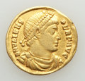 Ancients:Roman Imperial, Ancients: Valens (AD 364-378). AV solidus (20mm, 4.08 gm, 6h). About VF, scratches, clipped, ex jewelry....