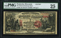 National Bank Notes:Wisconsin, Waukesha, WI - $5 1875 Fr. 405 The National Exchange Bank Ch. # 2647 PMG Very Fine 25.. ...