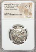 Ancients:Celtic, Ancients: CELTIC OR NEAR EAST. Ca. 4th-3rd Centuries BC. ARtetradrachm (26mm, 1h). NGC Choice Fine....