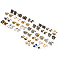 Estate Jewelry:Cufflinks, Multi-Stone, Diamond, Cultured Pearl, Gold Coin, Gold, Silver,Yellow Metal . ... (Total: 26 Items)
