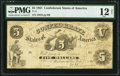 Confederate Notes:1861 Issues, T11 $5 1861 PF-4 Cr. 44 PMG Fine 12 Net.. ...