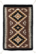 American Indian Art:Weavings, A Small Navajo Regional Rug. Two Gray Hills...