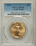 Modern Bullion Coins, 1995 $25 Half-Ounce Gold Eagle MS68 PCGS. PCGS Population: (166/671). NGC Census: (185/2934). Mintage 53,474. ...