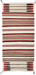 Textiles, A Navajo Double Saddle Blanket...