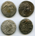 Ancients:Ancient Lots  , Ancients: ANCIENT LOTS. Greek. Seleucid Kingdom. Ca. 2nd-1stcenturies BC. Lot of four (4) AR tetradrachms.Fine-VF. ... (Total: 4 coins)
