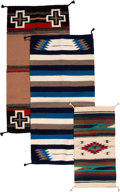 American Indian Art:Weavings, Three Mexican Rugs... (Total: 3 Items)