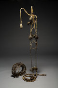American Indian Art:Pipes, Tools, and Weapons, A Native-Made Horsehair Bridle and Reins...